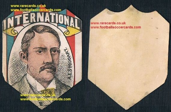 1888 W N Sharpe card Andrew Stoddart England captain cricket & rugby